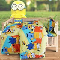 Wholesale Red Boy Crib Set - Wholesale-Baby Girl Boy Minnie Hello Kitty Cartoon Quilt Cover Bed Sheet Pillowcase 100% Cotton Bedding Set for Crib Cradle,1set=3pcs