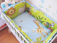 Wholesale Cheap Cot Bedding Sets - Wholesale-Comfortable Baby Cot Bedding Set 100% Cotton,5 Pcs Bedding Set High Quality Cheap Baby Crib Set Sale