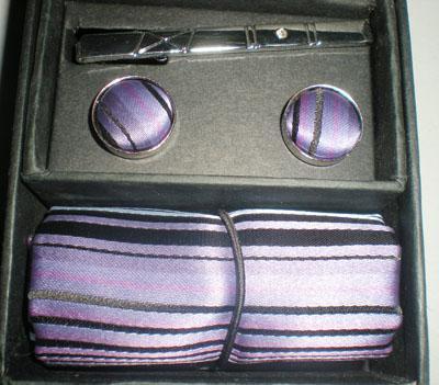 Silk tie set TIE+HANKY+CUFFLINKS tie cuff link Neckties,ties,cuff button set #1309