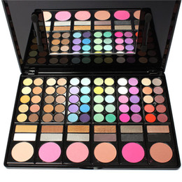 Wholesale Eyeshadow Makeup Palette 78 - Fashion 78 Colors Pro Eyeshadow Palette Makeup Powder Cosmetic Brush Kit Box With Mirror Women Make Up Tools