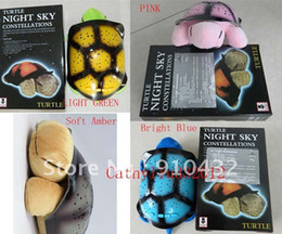 Wholesale Turtle Plays Music - 4pcs lot Night Light Turtle Light musical music play sleep lamp tortoise starry sky projector lamps without retail box 4 color