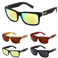 Wholesale Elmore Sunglasses - Wholesale-14 Colors Hot! Vonzipper Elmore Driver Mirrow Sunglasses Men Women Cool Coating Sunglass Sprot Outdoor Oculos With Boxes