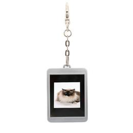 Wholesale Mini Digital Photo Keychain - Wholesale-Digital Album Picture Frame 1.5 inch LCD Mini Digital Photo Frame Electronic with Keychain