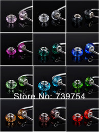 $enCountryForm.capitalKeyWord Canada - 50pcs lot !! Mixed 12 colors 925 silver Murano Glass Beads Europe Fits  Charm Bracelets necklaces & pendants