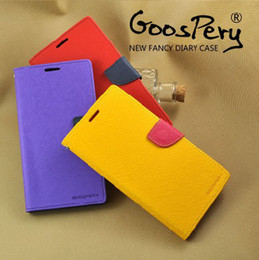 Wholesale Lg G2 Fashion Leather Wallet - Wholesale-Fashion GOOSPERY New Fancy Diary PU Leather Flip Cover for LG G2 Wallet Phone Case W  Stand Credit card holders