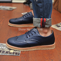 Wholesale Lace Up Oxford Platform Creepers - New Designer PLUS SIZE 38-46 Men's Leather Wingtips Shoes Business Dress Oxfords Shoes Platform Casual Italy Mens Creepers