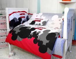Wholesale Baby Bumper Bedding - Promotion! 6PCS Mickey Mouse Baby Bedding Sets,Baby Cot Bedding Sets Sale (bumper+sheet+pillow cover)