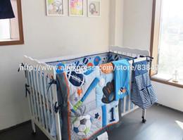 Wholesale Boy Bedding Sports - Ups Free Baby crib bedding sets Baseball Sports Baby Boy Cot Crib Bedding Set