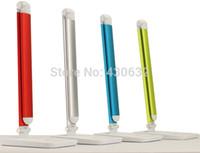 Wholesale Slide Dimmer Led - LED eye lamp for work & study folding bedside desk light 8 tile slide touch dimmer led table light free shipping