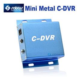 Wholesale Surveillance Cctv Dvr Card - Mini DVR C-DVR CCTV Camera Adapter Metal Digital Video Recorder support up to 32GB TF Card Surveillance C DVR 640 x480