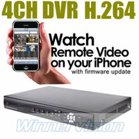 Wholesale H 264 D1 Ch - 4Channel H.264 Full Real time 4 CH D1 Recording Stand alone network DVR,Mobile Phone Remote monitoring support