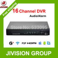 Wholesale Stand Dvr 16 - CCTV 16CH DVR Audio Alarm HDMI 1080P 3G WIFI P2P Cloud network DVR Digital video recorder H.264 Stand alone DVR 16 channel DVR