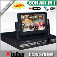 Wholesale 8ch Dvr Mobile Audio - NEWEST 8CH HD 960H DVR 7inch LCD Screen 4ch Audio All in One DVR Wifi 3G Mobile Phone Remote View for CCTV Camera DVR D87S