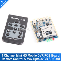 Wholesale Xbox Dvr Recorder - Real time 1CH Mini HD XBOX DVR PCB Board up D1 30fps support 32GB sd Card Security Digital for Model aircraft Video Recorder