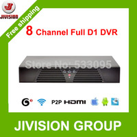 Wholesale Stand Dvr Full - 8CH DVR FULL D1 CCTV Recorder HDMI H.264 network support 3G and WIFI 8 channel Stand alone DVR 8 Channels with audio and RS485