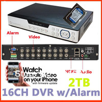 16ch CCTV DVR mit 2 TB, HDMI-video-Ausgang P2P plug-and-play -, audio -, alarm -, Handy-anzeigen,DH remote-anzeigen-Digital-Video-Recorder