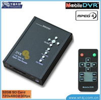 Wholesale Dvr Ch Full D1 - 1-CH D1 full real-time SD Card Mobile DVR car video recorder car video recorder TAXI