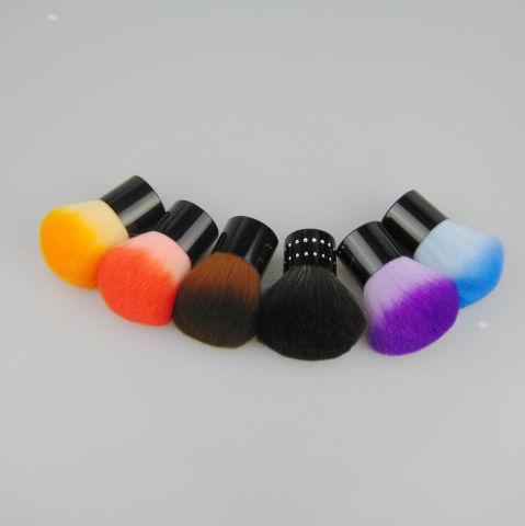 12 sztuk / partia opcjonalne szczotki Makijaż Nylon Szczotka do włosów Kabuki Szczotki Pędzel w kształcie grzybów