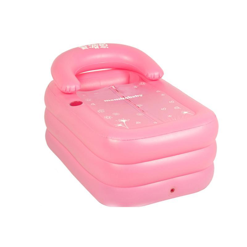 Acquista Portable Adulto Bagno Vasca Da Bagno Di Plastica Gonfiabili ...