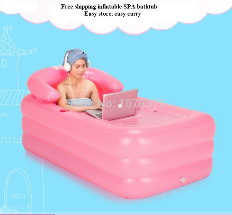 SPA Inflatable Bath Tub Adults Thickening Thermal Plastic Bathtub ...
