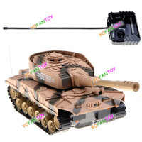 Wholesale Radio Controlled Tank Model - Free Shipping Super Power Panzer Simulation Radio Control Tank RC Panzer Armored Car Fighting Vehicle Toy Model Tank Toy