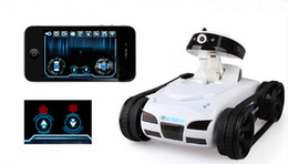 Wholesale Mini Battery Rc Car - 777-270 WiFi Mini i-spy RC Tank Car Toy W  Camera Remote Control&Video By IOS phone
