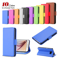 Wholesale Cellphone Sleeves - S5 S6 Luxury Retro Leather Flip Case For Samsung Galaxy S5 i9600 Cellphone Sleeve Wallet Stand Card Holder Cover For Galaxy S 6