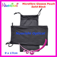 Wholesale Drawstring Glasses Bags - 50pcs Wholesale Black or Grey Double Drawstring Microfibre Sunglass Glasses Eyeglass Soft Case Bag Pouch Free Shipping CP030