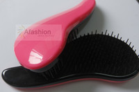 1pc Rose gros Tangle Professional démêlant Styling Hair Brush Outils Fit for Brazilian Virgin Hair Livraison gratuite
