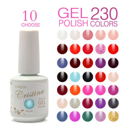 Wholesale Cristina Gel Color - 10 pcs Cristina UV Gel Nail Polish 230 Colors 15ml 0.5oz Professional Gum,Temperature Change Luminous Color drop shipping