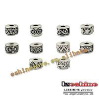 Wholesale Tibetan Silver Stopper Beads - Bead Clip Lock Wholesale Lots Mixed 50Pcs Tibetan Silver Plate Stopper Beads Charms Fit European Bracelet tdmix3