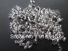 Wholesale 2mm Crimps - Chunky Shinny 10000pcs a lot 2MM Tube Crimp beads for Chunky Necklace Jewelry
