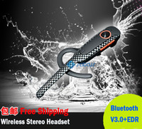 2015 Bluetooth Headset New Rechargeable Refroidir Bluetooth Earphone V3.0 + EDR pour PS3 / PC / Mobilephone ipone4 / 4s Ipone5 Samsung HTC