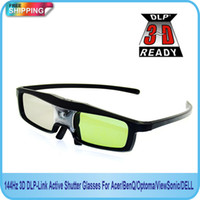 Wholesale Dlp Shutter 3d - Free Shipping!!144Hz 3D DLP-Link Active Shutter Glasses For Acer BenQ Optoma ViewSonic DELL