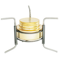 Wholesale Ultra light Mini Outdoor Camping Stove Copper Alloy Alcohol Stove Furnace Portable Camping Equipment Alocs Burner with Stand