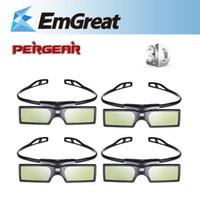 Wholesale 3d Active Lg - 4pcs lot Bluetooth 3D Active Shutter Glasses Virtual Reality for Samsung LG TV HDTV 3D TV HDTV Blue-ray Player P0016936