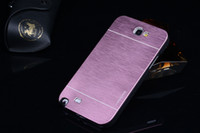 Wholesale Galaxy Note Free Shiping - Wholesale-Note 2 Case Luxury Ultra thin Aluminum Metal+PC Brushed Cover Case For Samsung Galaxy Note 2 II N7100 Covers Cases Free Shiping