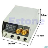 Wholesale Professional LCD Stainless Steel Dual Digital Tattoo Machine Power Supply New J117