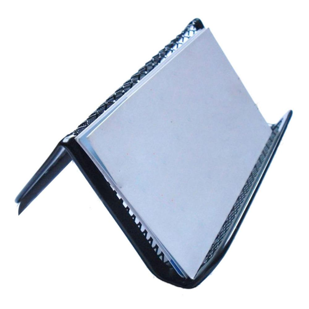Amazing Stylish Black Steel Mesh Business Card Holder Office ...