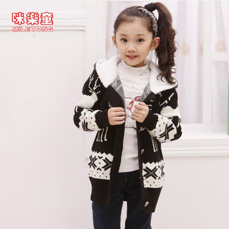 2015 Girls Sweater Coat Thick Girls Large 10 Year Old Children ...