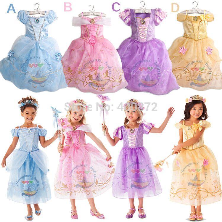 Compre Moda De Verano Vestido De Niña Chica Cenicienta Princesa ...