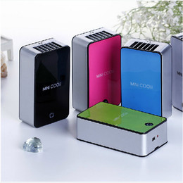 Wholesale Mini Usb Rechargeable Fan - Wholesale-USB Rechargeable Portable Cooling Fan Mini Portable Hand Held Air Conditioner