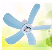 Wholesale Ac Powered Mini Fan - Wholesale-8W Small Ceiling Fan Mosquito Net fan style Mini Silent Quiet Power Saving Electric Fans baby bed Fan with Free 2.5m cable