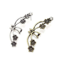 Wholesale Gothic Earrings For Sale - Wholesale-2015 New Hot sale fashion ear piercing earrings clips for women girl,Gothic Punk Rock Gold Silver earcuff,gold plated earrings