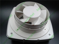 Wholesale Ventilator Fans - Wholesale-Drawstring Ventilator Kitchen fumes Exhaust fan WC Bathroom Exhaust fan Household wall window100%copper wire(Diameter 11cm 4inch