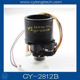 Wholesale Ir Mega 12mm - Free shipping1 2.7 cctv camera lens f1.4 2 Mega pixels 2.8-12mm ir cut cctv Lens for cctv camera .CY-2812B