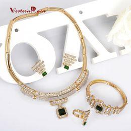 WesternRain Indian Jewelry avec Rouge / Vert Imitation Gemstone Bangles BraceletCollierRingEarring Bijoux Ensembles, Livraison Gratuite ? partir de fabricateur