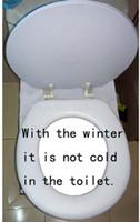 "Wholesale Adult Toilet Seat - 17""Black White Pattern PVC Soft Adult Toilet Seat Sponge Eco-Friendly High Quality! Warm  Never Cold"