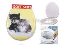 "Wholesale Adult Toilet Seat - NO COLD MORE   High Quality! Cute cat Pattern PVC Soft WC Adult Toilet Seat Sponge Eco-Friendly 17"""