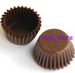 Wholesale - MINI Cake chocolate cases cupcake brown, 6500pcs per box